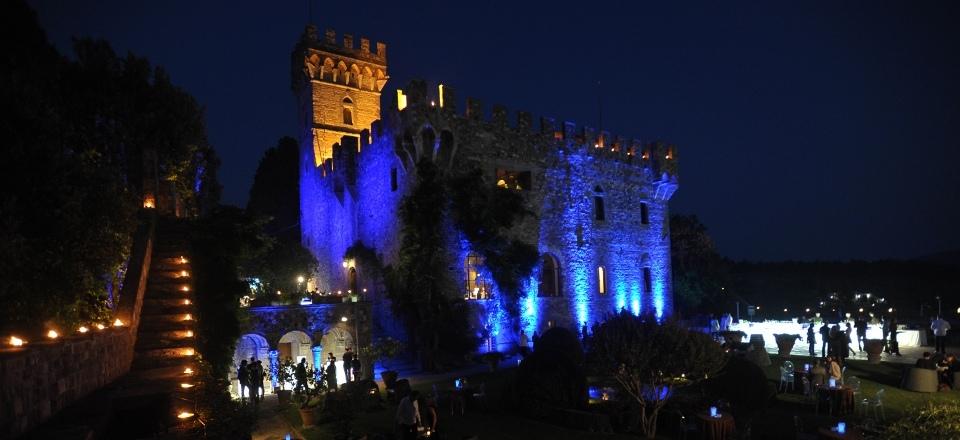 Heiraten in Italien: ein rauschendes Burgfest