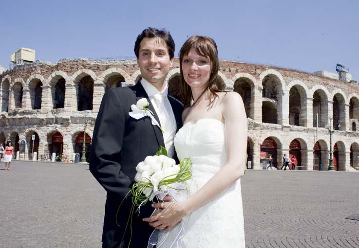 Heiraten in der Stadt von Romeo und Julia: Verona