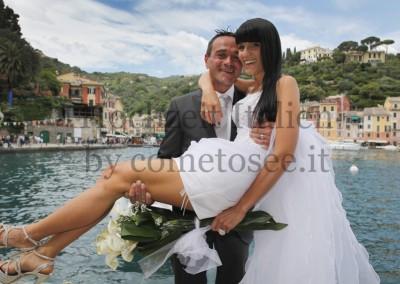 Brautpaar bei Hochzeit in Portofino