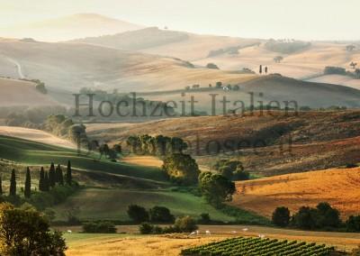 Landschaft in der Toskana - perfekt für unvergessliche Hochzeiten