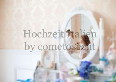 Vorbereitungen für eine Hochzeit in der Toskana: Haare & Makeup von professionellen Stylisten