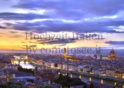 Skyline von Florenz - Heiraten in der Toskana
