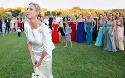 Das Brautstrauss-Werfen