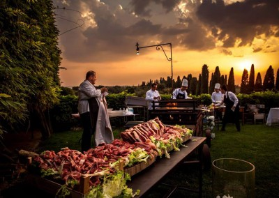 Grillfest in der Toskana