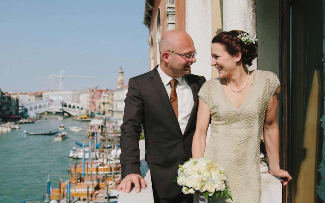 Katharina und Martin bei ihrer Hochzeit in Venedig