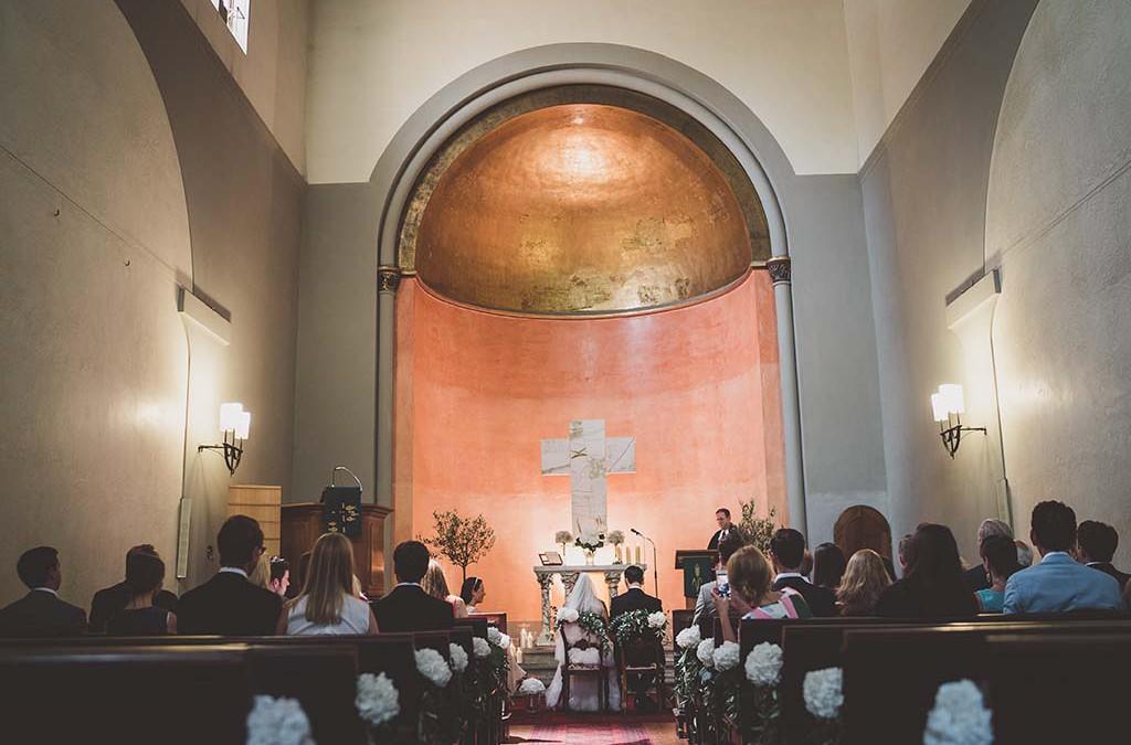 Kirchliche Hochzeit in Florenz mit einem Hochzeits-Sommerfest