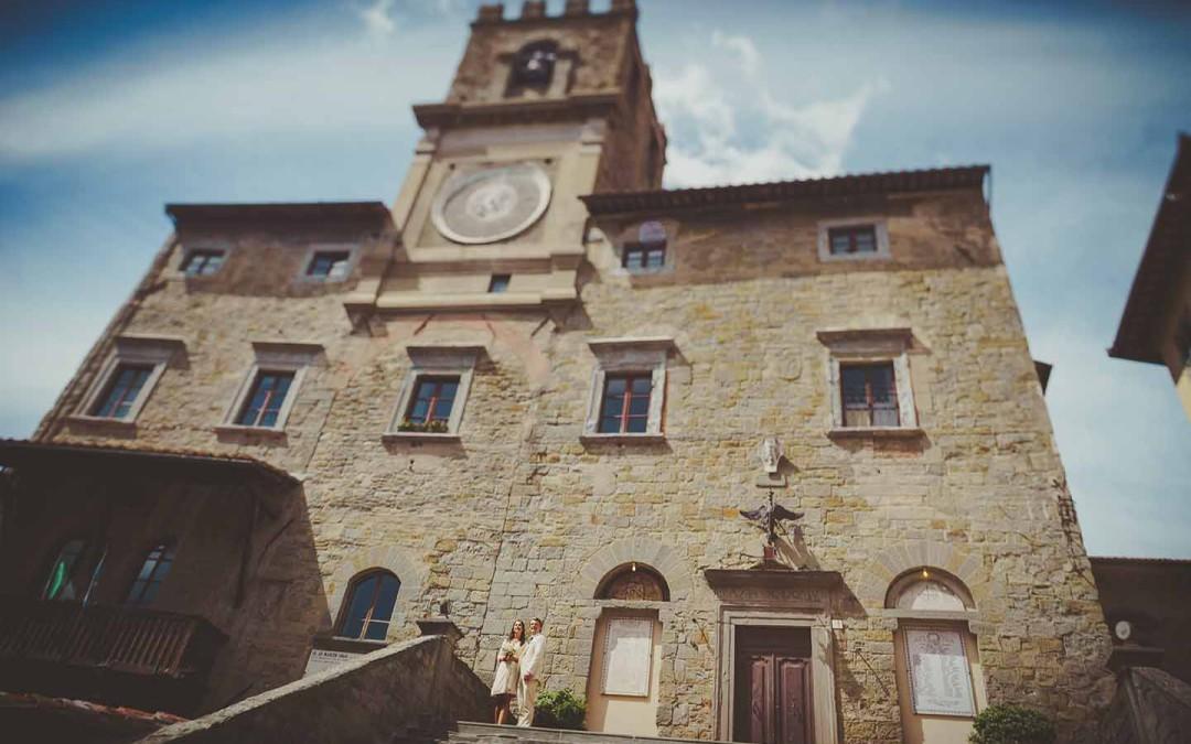 Standesamtliche Hochzeit in Cortona