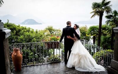 Traum-Kulisse mit Trauung im Freien: eine Hochzeit am Comer See